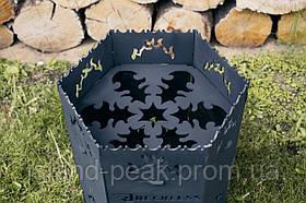 Reckless Печь мангал под казан , разборной ,металл 3 мм.