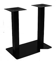 Опора для стола двойная Рона черная 40*70 см (СДМ мебель-ТМ), фото 2