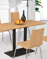 Опора для стола двойная Рона черная 40*70 см (СДМ мебель-ТМ), фото 3
