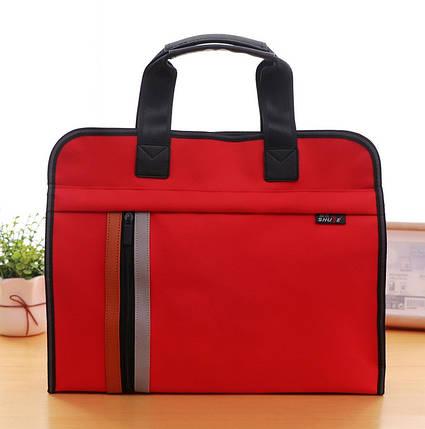 Красная сумка А4 из ткани, фото 2