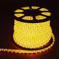 LED Дюралайт 2WAY 36шт/м, 1.44W/m, желтый, круглый