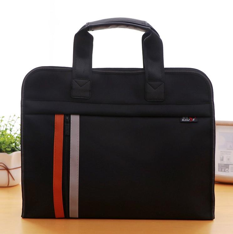 Чорна сумка А4 з тканини