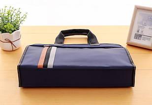 Чорна сумка А4 з тканини, фото 2