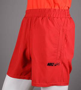 Шорты мужские спортивные Nike (ШП01), Красный