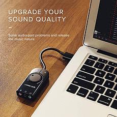 UGREEN CM129 внешняя звуковая карта USB стерео с регулятором громкости, фото 2