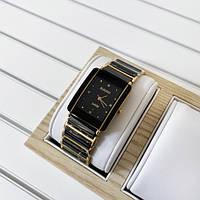 Часы наручный ААА класса Rado Black - Gold Diamonds