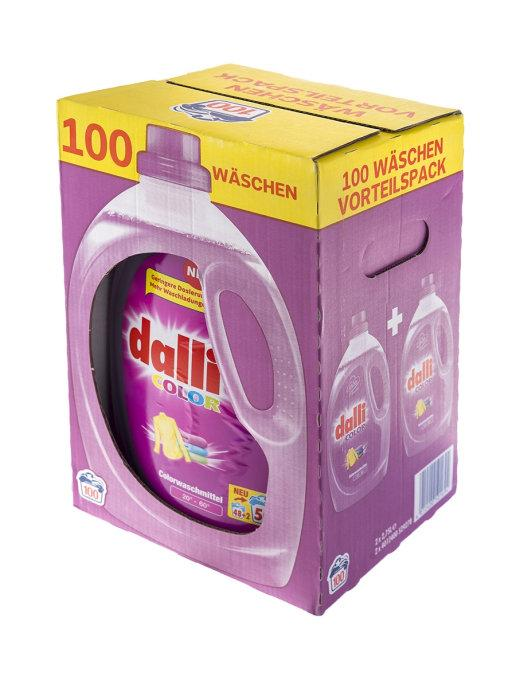 Набір гелів Dalli Activ Color для кольорового 100 прань (50 + 50), 2,75л. * 2шт.