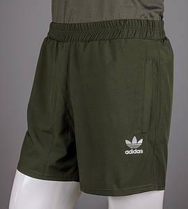Шорты мужские спортивные Adidas (ШП02), Хаки