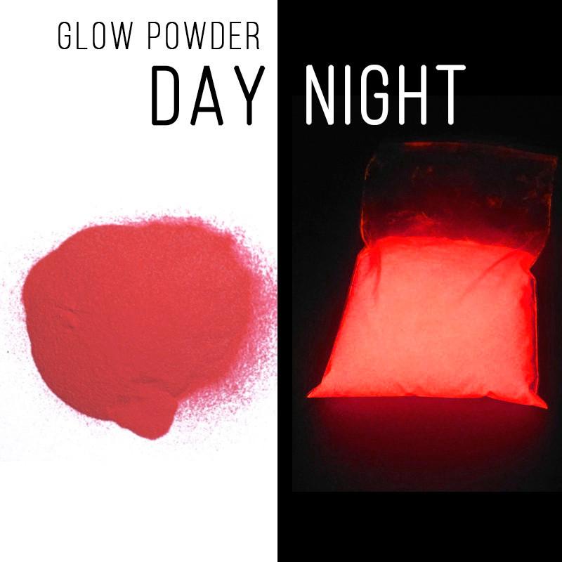 Люминофор красный\ красно-оранжевое свечение.  Уп. 10 г. Светящийся в темноте пигмент.