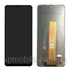 Дисплей для Samsung A125 Galaxy A12 2020 (GH82-24491) Black (Service Pack Original)