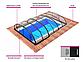 Павильон для бассейна Dallas A 4,07x6,4x0,82м - Antracit, фото 4