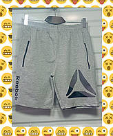 Шорты мужские карманы на змейке пояс на резинке+шнурок Reebok размер норма 46-52, цвет уточняйте при заказе, фото 1
