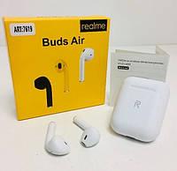 Беспроводные наушники Realme Buds Air 7619 Bluetooth стерео сенсорные, блютуз гарнитура белые