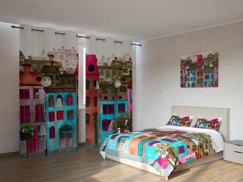 Фотокомплект нарисованные дома