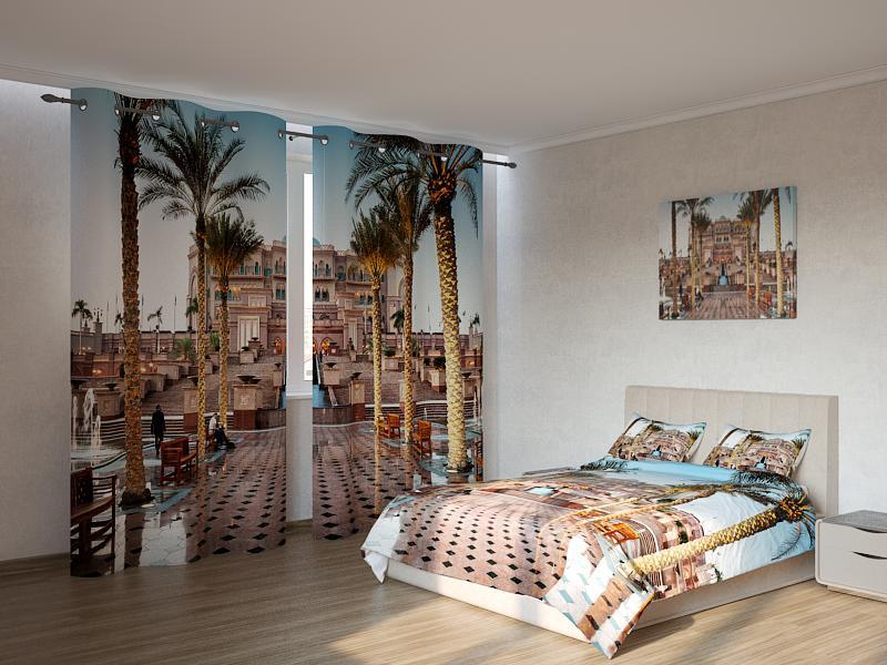 Фотокомплект пальмы в городе