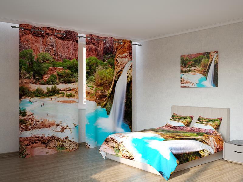 Фотокомплект водопад в горах