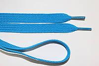 Шнурки плоские 10мм, бирюза