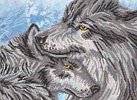 Ткань с рисунком для вышивки бисером Суровая нежность РКП-2-033