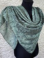 Женский хлопковый платок в этническом стиле мятно-зеленый (цв.2)