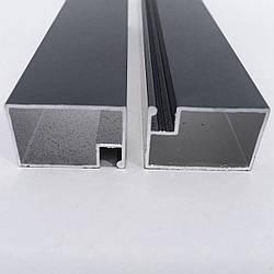 Профиль москитный DL-05 дверной 17х25 RAL7024 Графитовый серый (Антрацит) Elite (от 120м)