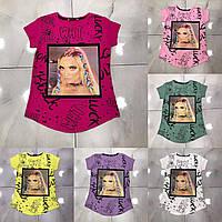 Подростковая футболка LUCKY для девочек 7-14 лет,цвет уточняйте при заказе, фото 1