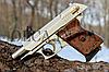 Стартовый пистолет EKOL LADY 9 мм (сатин с позолотой), фото 4