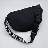 Женская бананка FILA поясная сумочка фила черная, фото 6