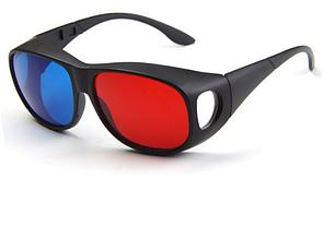 Стерео-окуляри 3D (анагліфние) пластик, червоно-сині (111)