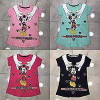 Подростковая футболка MICKEY MOUSE для девочек 7-14 лет,цвет уточняйте при заказе, фото 1