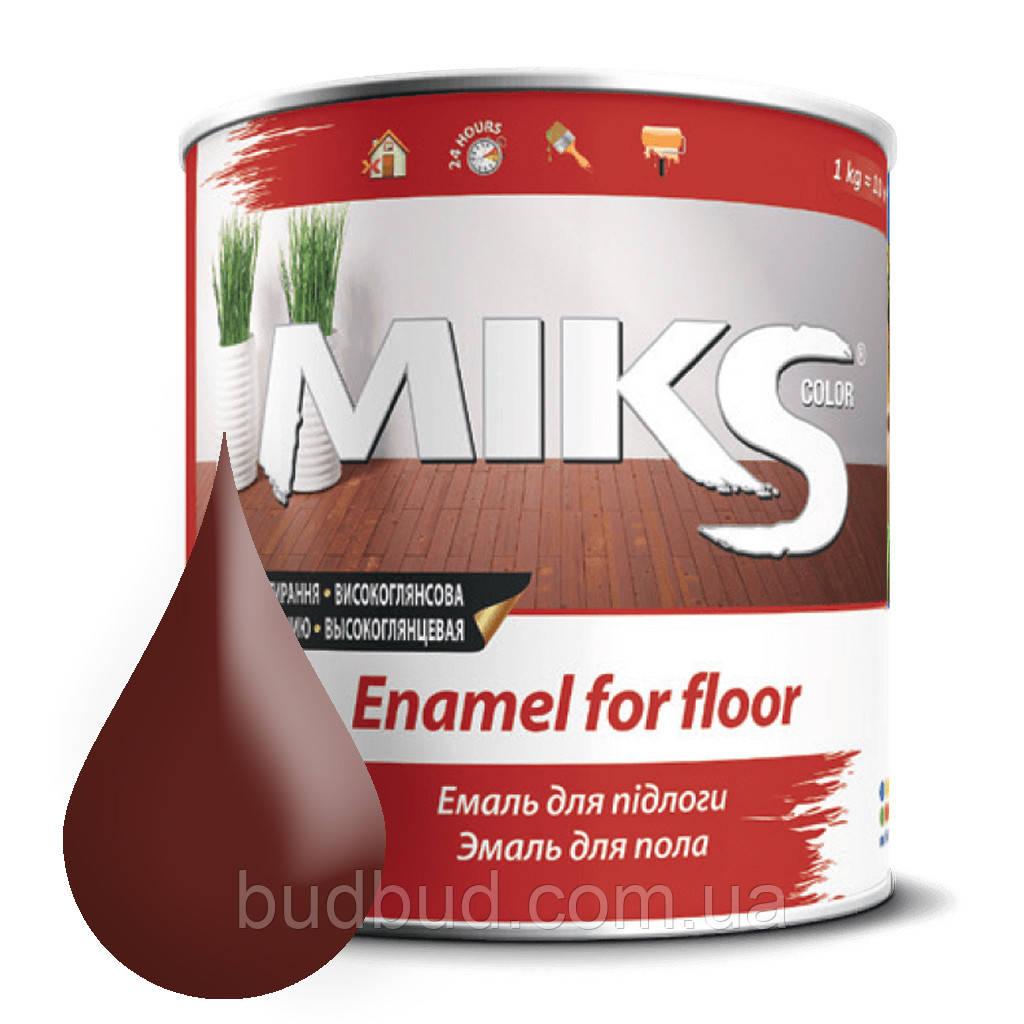 Эмаль для пола красно-коричневая ПФ-266 Микс 2,8 кг.