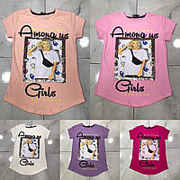 Подростковая футболка AMONG US GIRLS для девочек 7-14 лет,цвет уточняйте при заказе, фото 1