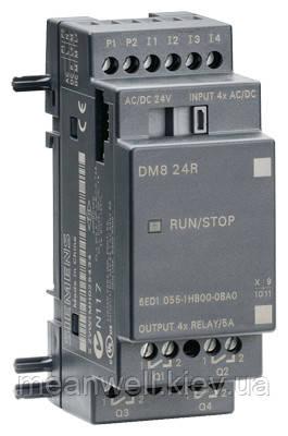 6ED1055-1HB00-0BA0 LOGO! DM8 24R Дискретный модуль расширения LOGO!