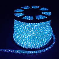 LED Дюралайт 2WAY 36шт/м, 1.44W/m, синий, круглый