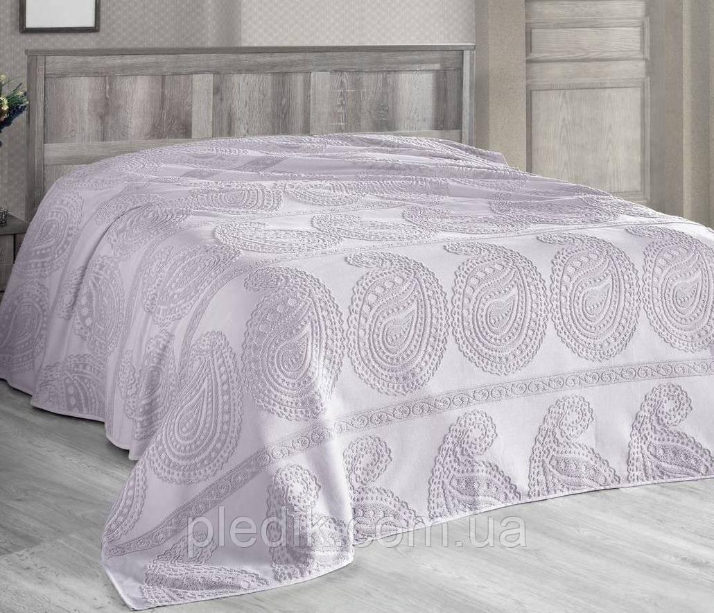 Простирадло махрова Arya Misley Жаккард 200 х 220 см колір лиловий