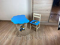 Дитячий столик і стільчик. Кришка хмарка, фото 5