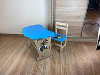 Дитячий столик і стільчик. Кришка хмарка, фото 7