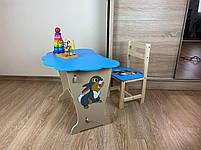 Дитячий столик і стільчик. Кришка хмарка, фото 6