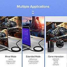 Кабель UGREEN ED030 HDMI V2.0 4K 3D 1М Fashion Black, фото 2