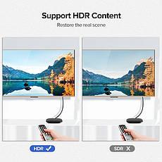 Кабель UGREEN ED030 HDMI V2.0 4K 3D 1М Fashion Black, фото 3
