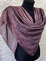 Женский хлопковый платок в этническом стиле темно-розовый (цв.4)