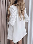 Жіночий костюм, костюмка класу люкс, р-р 42-44; 44-46 (білий), фото 3
