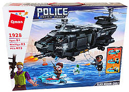 Конструктор Qman «Полицейский вертолет спецназа» Police: Battle Force 473 деталей 1928 6+