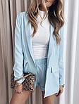 Женский костюм, костюмка класса люкс, р-р 42-44; 44-46 (голубой), фото 2