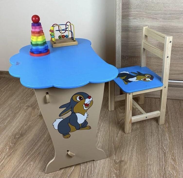 Дитячий столик і стільчик. Кришка хмарка