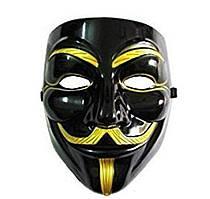 Чорна Карнавальна Маска Гая Фокса V Вендета Анонимуса Anonymous