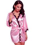 Атласный халат Эротическое белье Сексуальный комплект Exclusive (38 размер  размер XS ), фото 3