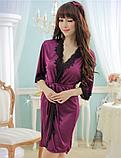 Атласный халат Эротическое белье Сексуальный комплект Exclusive (38 размер  размер XS ), фото 4