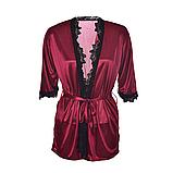 Атласный халат Эротическое белье Сексуальный комплект Exclusive (38 размер  размер XS ), фото 5