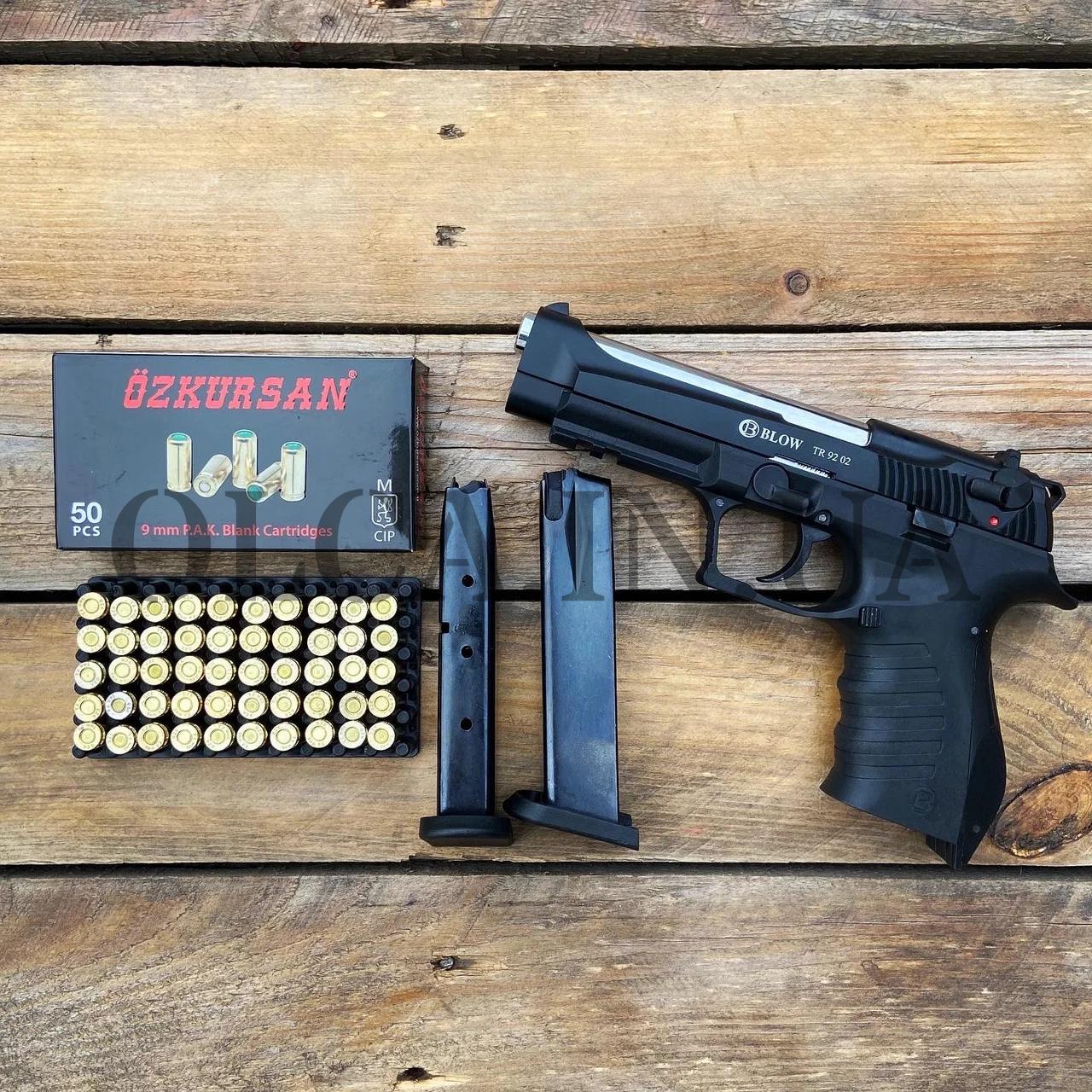 Стартовый пистолет Blow TR 9202 + 50 патронов Ozkursan кал. 9 мм