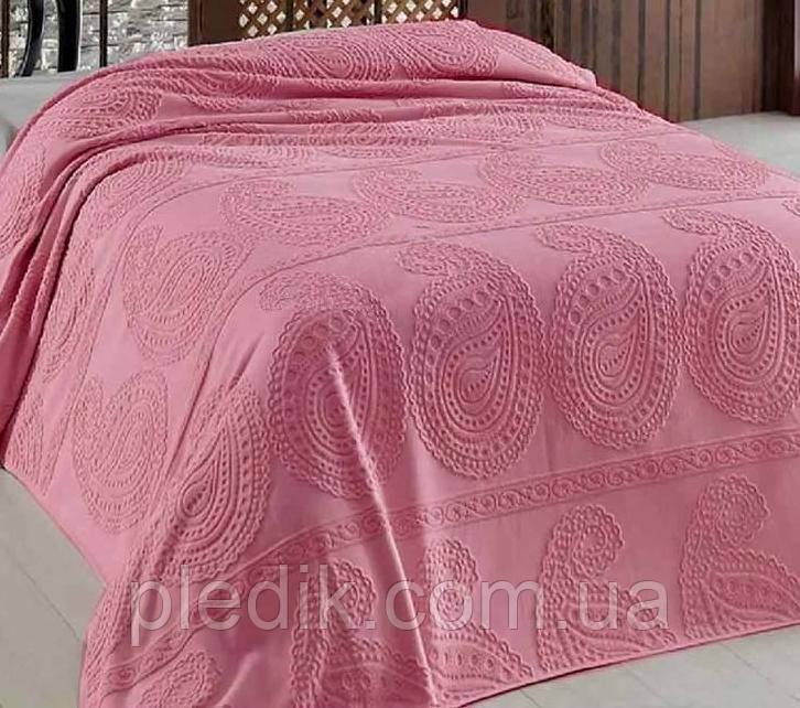 Простирадло махрова Arya Misley Жаккард 200 х 220 см колір троянда